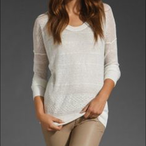 4332dc42df Theory Tani Sag Harbor Linen Blend Knit Top - S: M_5ad8fd85d39ca27eaad6e879